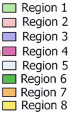Region colors