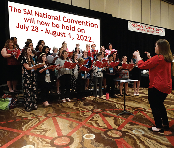 The Strolling SAI Singers at the 2018 National Convention